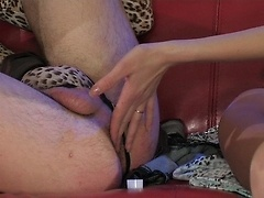 Smartened sissy pays off with anal