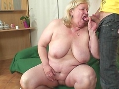 The son in law gives the hot granny a damn fine pounding in her slippery hot pussy