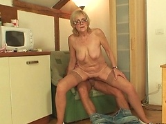 His young cock is her salvation and she totally gets off using him for her hot pleasure