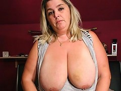 Big titted chubby mama getting naughty